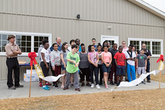 Ribbon-Cutting: New Building at Day Camp!