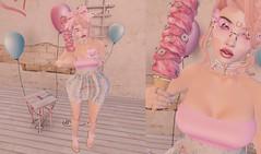 Post #1826 (şąşɧ =^^=) Tags: pinkatude pink white decor mesh dress sandals bow flowers rare gacha jewelery pearl diamond piercing moon icecream cone sunglasses butterfly glitter makeup hud applier bento gold nails bracelets balloon backdrop second life fashion blog girly kawaii cute tea cup dainty