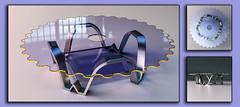 TableD33f (Ke7dbx) Tags: producdesign productdesign industrialdesign table furniture 3d cg cgi modo design art glass metal