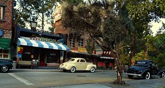 1940's Downtown 10 (gpholtz) Tags: diorama miniatures 118 diecast 1939 1941 ford plymouth