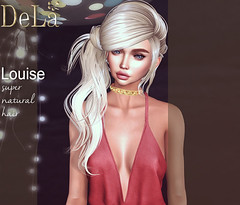 """=DeLa*= new hair """"Louise"""" (=DeLa*=) Tags: dela hair fitted rigged mesh materials secondlife secondlifefashion sl slhair style shiny shabby new"""