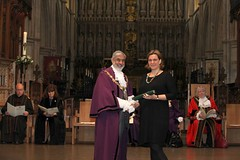 Our Director Gemma accepting our 2017 Southwark Civic Award