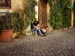 Tattoo - Trastevere/Rome (mikehaui60) Tags: olympuspenepm2 pen epm2 mft nightshot streetphotography peoplephotography rome trastevere italy tattoo