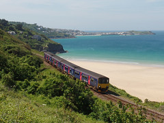 150121 & 150106 Porthkidney Sands (1) (Marky7890) Tags: gwr 150121 150106 class150 sprinter 2a30 porthkidneysands railway cornwall stivesbayline train