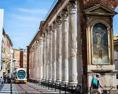 Colonne Di San Lorenzo (MitchellShapiroPhotography) Tags: train milano italia jesus trena