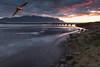 Flight of Icarus (Friðþjófur M.) Tags: skagafjordur skagafjörður friðþjófurm tindastóll canon5dmarkii canonef1740 seascape héraðsvötn sunset outdoor mountains colors water reflection sand blacksand clouds lights