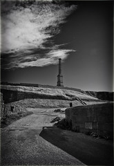 The Candlestick (buddah1888) Tags: chimney whitehaven cumbria blackandwhite canon eos england historical methanevent mine fierypit disaster humphreydavey safetylamp closed 1932 monochrome canon400d