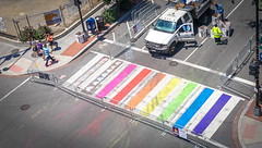 2017.06.10 Painting of #DCRainbowCrosswalks Washington, DC USA 6473
