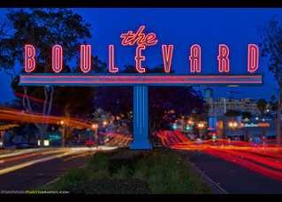 The Boulevard gateway sign mixed in with a dash of bokeh!