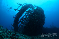 The stern on Umbria wreck (Nicolas & Léna REMY) Tags: wreck nauticam ocean rebreather revo redsea africa underwater inon sudan afrique diving mer merrouge photography plongée recycleur scuba sea soudan épave