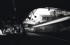 curve (victoriousviktor) Tags: switzerland zurich stadelhofen station sbb train santiago calatrava dark long exposure canon a1 5014 nd400 film ilford delta100