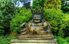 Happy face (Jane Desforges) Tags: buddah golden smiling peace harmony meditation crowned sandringham gardens norfolk