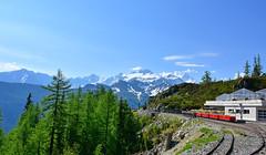 Le petit train panoramique (Diegojack) Tags: montuires valais emosson train panoramique montagne panorama verticalp