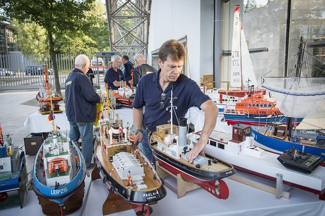 Ship models on display