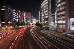 Nishi-Shinjuku - Tokyo, Japan (inefekt69) Tags: japan tokyo night street asia city nikon d5500 日本 東京 shinjuku 新宿 neon lighttrails road