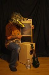 bruce, ukulele, washboard, percussion (horsesqueezing) Tags: crocodilemask washboard ukulele selfportrait selfie