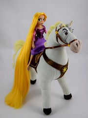 Adventure Rapunzel with Plush Maximus - Tangled: The Series - Disney Store Purchases - Rapunzel Riding Maximus - Full Left Front View (drj1828) Tags: us disneystore tangled tangledtheseries doll 2017 purchase posable adventure 10inch 2d deboxed maximus horse plush 15inch
