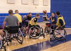 Members of Team Navy participate in the Navy Wounded Warrior Walter Reed Adaptive Sports training camp. (Official U.S. Navy Imagery) Tags: bethesda md departmentofdefensewarriorgame navywoundedwarriorwalterreedadaptivesports trainingcamp unitedstates usa
