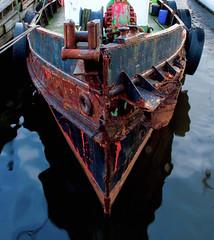 Old Tugboat (bjorbrei) Tags: boat ship tugboat bow old decay rust rusty gressvik fredrikstad norway