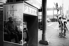 R0029098 (G. L. Brown) Tags: broadway georgestrait phonebooth poster family america tennessee nashville nashvillestreetphotography blackandwhite bw streetphotography