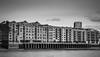 Metropolitan Wharf in mono (Yannis Raf) Tags: canon canoneos70d canoneos ef24105mmf4lisusm ef24105mmf4 london uk thames river bw mono moon