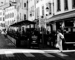 sun light ray (travelben) Tags: nancy lorraine france shadow blackwhite street vertical nb light graphic nostalgie rural city urban noirblanc sun alone streetphotography candid moment monochrome europe atmosphere expression dream timeless composition soul black white ray contrejour contrast people natural nostalgia mystery quietness blackandwhite vieilleville patterns streetphoto streetphotographer bw