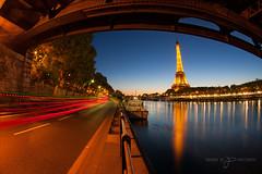 La Tour Eiffel (greg02100) Tags: paris toureiffel eiffeltower blue hour heure bleue sunrise cityscape laseine fisheye tokina1017 tokina canon canoneos1dmark2n capitale pose longue gros caillou france