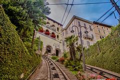 From Bergamo Alta to Bergamo Bassa (antoniosimula) Tags: funicolare up down bergamo alta e bassa sky cielo nikond3200 1770 sigma allaperto green hdr