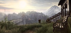 """""""Our place"""" (L1netty) Tags: theastronauts pc games gaming reshade screenshot thevanishingofethancarterredux trees sky sun mountains house landscape nature outdoor 4k videogame color home scenery"""