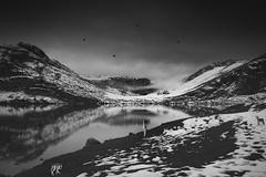 (Henar Domine) Tags: monocromático nieve montaa asturias covadonga nikon d7100