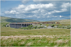 Ribblehead Viaduct (Resilient741) Tags: class 60 60002 high peak colas railfreight rail freight s c setle carlisle railway ribblehead viaduct whernside yorkshire dales national park railroad bridge landscape 6j37 chirk railways br british doughnut tug north yorks england united kingdom scenary scenery