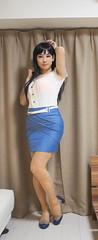 DSC09869 (mimo-momo) Tags: crossdressing crossdresser crossdress tightskirt transvestite japanese