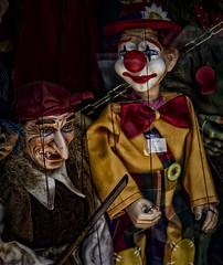 We're watching you!! (Leaning Ladder Photography) Tags: prague praha czech czechrepublic marionette puppet faces colors leaningladder canon 7d
