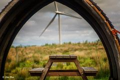 Picnic view - (Jupiter 9) - 2017-05-28th (colin.mair) Tags: jupiter9 whitelee wind farm shelter picnic bench bokeh sernon7304977 sony ilce6000 m42 ussr russian manual lens f2