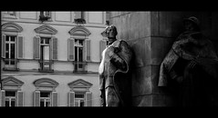 In the limelight? (DAncientMariner) Tags: bw italy monument piazzacastello sculpture street turin urban windows exif:focallength=105mm exif:model=nikond5100 exif:make=nikoncorporation camera:model=nikond5100 geostate exif:lens=1801050mmf3556 geocountry exif:aperture=ƒ56 geocity geolocation geo:lat=45070561111112 geo:lon=76864638888883 exif:isospeed=800 camera:make=nikoncorporation
