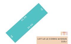 Lot 40, Le Cornu Avenue (Morphettville), Morphettville SA