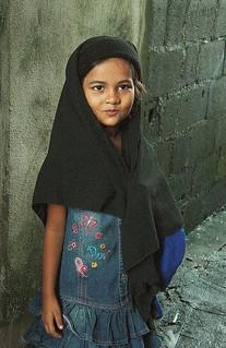 pretty muslim child