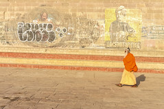 Time Will Reflect (achin.biswas) Tags: saint vivekananda swami benaras varanasi wall ghat ganges