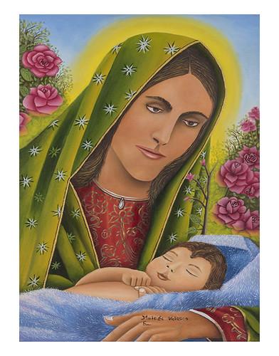 Autor: MOISES VELASCO ESTELA, Sentimiento maternal 40x60 cm