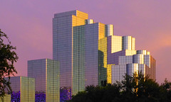 The Purple City (army.arch) Tags: dallas texas tx hyattregency hotel mirror mirrored glass sunset