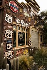 Route 66 At Disney California Adventure in Carsland (Kent Freeman) Tags: canon eos 5d mark iii ef 24105mm f4 l is ii usm carsland cars land disney california adventure disneyland route 66 sign tulsa tea