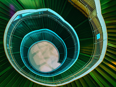 NIght Blooming Flower (marco ferrarin) Tags: spiral stairs stair staircase flower plant nightblooming actcity hamamatsu japan architecture green night longexposure le urban city 浜松市 アクトシティ abstract