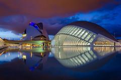 Ciudad de las Artes y las Ciencias (sergio.nvs21) Tags: valencia nikon d7000 reflejo reflection sunset cloud