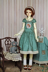 Michelle (Luthigern) Tags: bjd dollstown ariel sd doll morigirl mori girl embroidery sewing