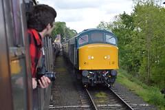 47192/45041/Cosmo (Lewis_Hurley) Tags: preserved carriage coach severnvalleyrailway svr severnvalley railway railroad track train people waiting loop hamptonloade britishrail brblue br royaltankregiment peak class45