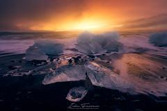 Jokulsarlon-sunrise-II (Iván F.) Tags: iceland jokulsarlon islandia landscape landscapes sea seascape sunrise sunset amanecer travel tourism ice sony a7r nisi nisifilters zeiss explore explorer exploration
