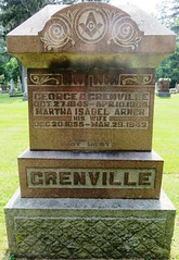 Grenville, George A. 1845 - 1906 (Hear and Their) Tags: fraternal grave stones markers oddfellows masonic mason freemason kingsville ontario greenhill cemetery