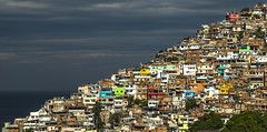 How many people do you see? (Irwin Scott) Tags: favela vidigal riodejaneiro brazil hillside housing poverty colorful morning
