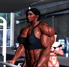 Me working out (Ms Soul) Tags: muscle muscular muscularwoman bodybuilder fitness strength exercising workout gym