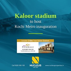 The inaugural ceremony of Kochi Metro rail service will be held at the Jawaharlal Nehru International stadium in Kaloor. Prime Minister Shri. Narendra Modi will arrive in Kochi on June 17th to launch Kochi Metro. #KochiNews #KochiMetro  #News #Kerala #Koc (nucleusproperties) Tags: beautiful life kochi elegant style kerala realestate train lifestyle kochinews india news luxury comfort architecture interior gorgeous design environment metro beauty building exquisite view kochimetro city construction atmosphere home